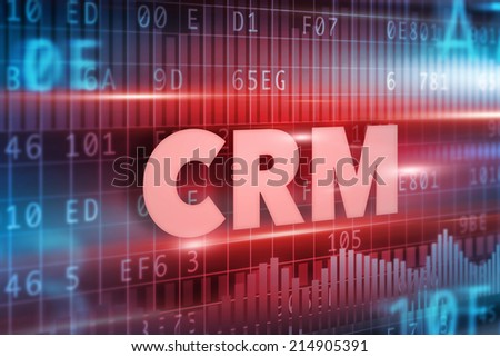 CRM - Customer Relationship Management concept red text - stock photo