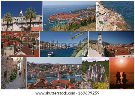 Croatia, collage postcard  - stock photo