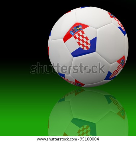 Croatia flag on 3d football for Euro 2012 Group C