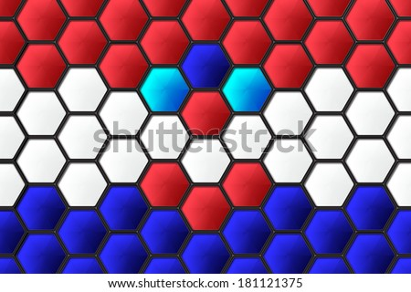 croatia flag on hexagon background - stock photo