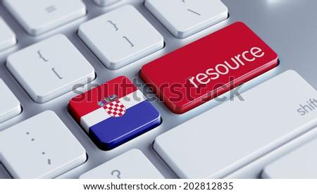 Croatia  High Resolution Resource Concept - stock photo