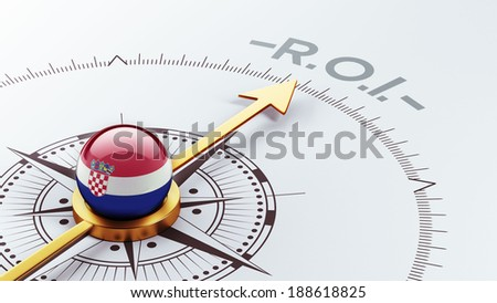 Croatia  High Resolution ROI Concept - stock photo
