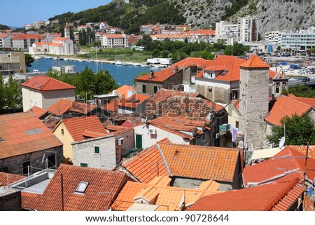 Croatia - Omis in Dalmatia. Old town view.