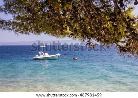 Croatia, seascape, Brac island, Adriatic sea, Dalmatia