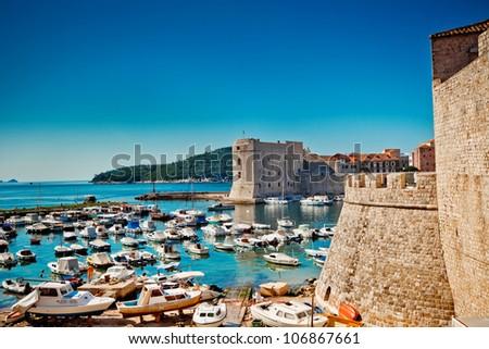 Croatia, Southern Dalmatia, Dubrovnik Old City - stock photo