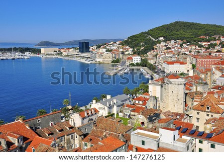 Croatia, Split city at mediterranean sea