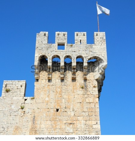 Croatia - Trogir in Dalmatia (UNESCO World Heritage Site). Kamerlengo Castle.