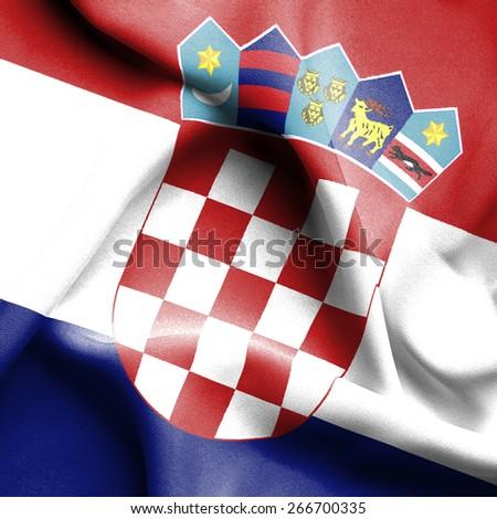 Croatia waving flag - stock photo