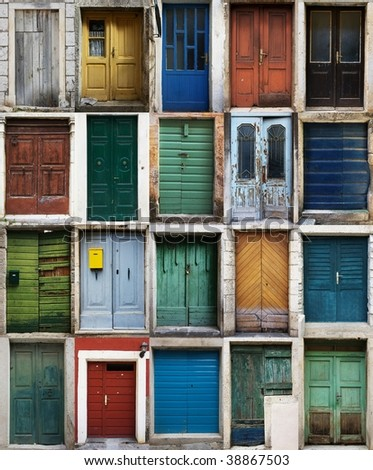 Croatian doors - stock photo