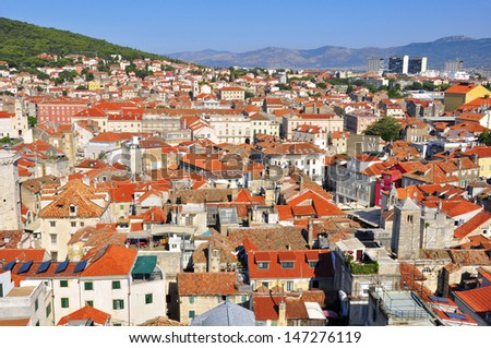 Croatian roofs, Split city center