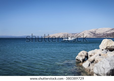 Croatian sea, beach and sky