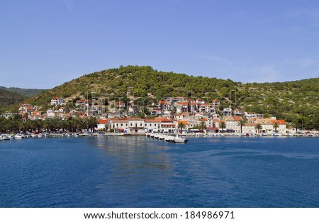 Croatian Town of Vis on Island Vis - stock photo