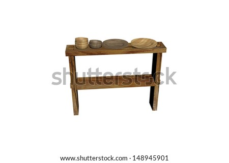 crockery board - stock photo