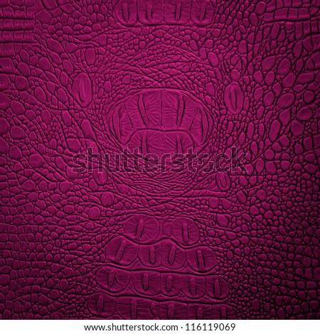 crocodile leather pink - stock photo