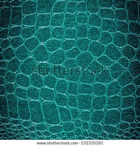 Crocodile leather with colorful background - stock photo