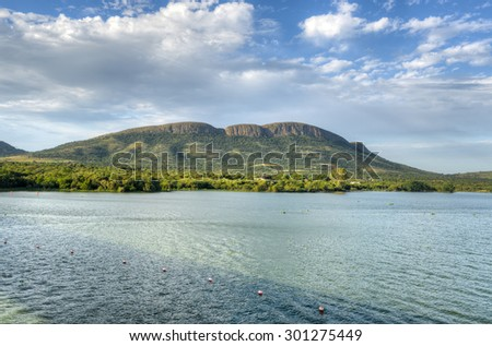 Crocodile River by Hartbeespoort Dam in South Africa - stock photo