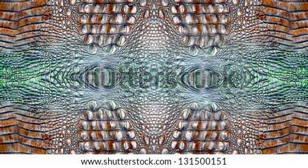 Crocodile skin texture background - stock photo