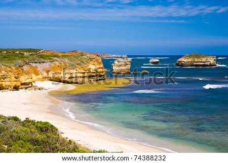 Crofts Bay East, Great Ocean Road, Victoria, Australia - stock photo