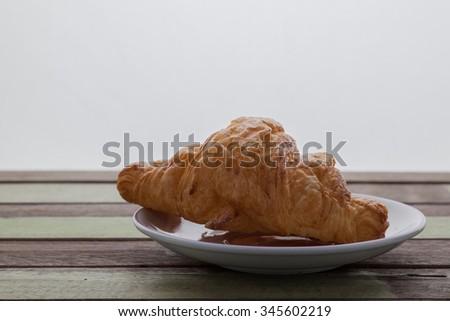 Croison bakery isolated on white background - stock photo