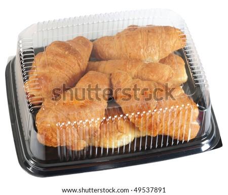 Croissant. Isolated - stock photo