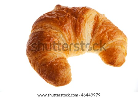 croissant isolated on white
