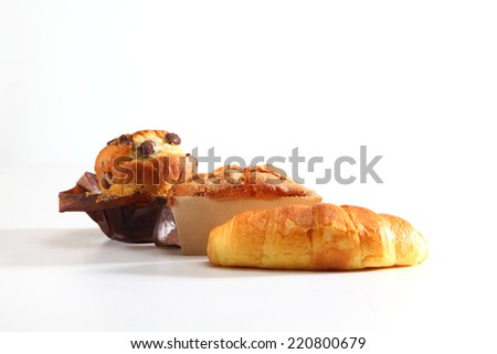 croissant muffin - stock photo