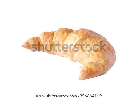 croissant on white background - stock photo