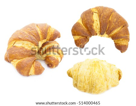 croissant set isolated on white background