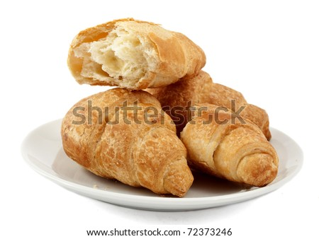 croissants on a white background