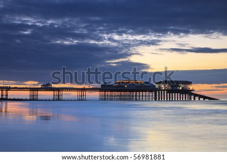 Cromer Pier at sunset on a summers evening