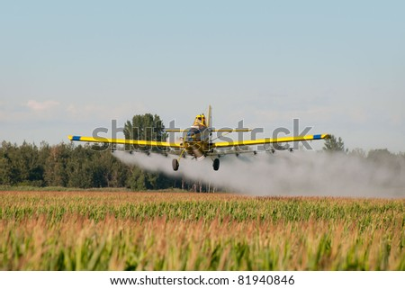 Crop duster - stock photo