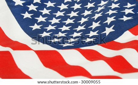 cropped photo of the flag of the USA - stock photo