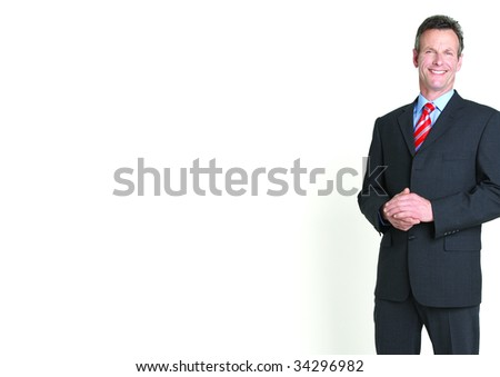 Cropped portrait of businessman