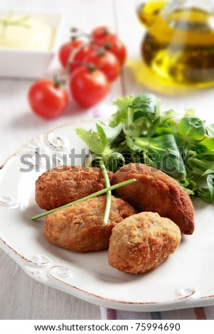 croquettes - stock photo