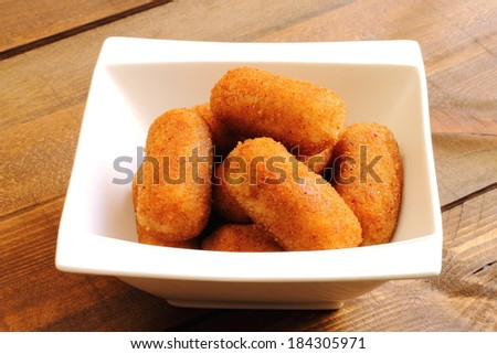 Croquettes tapa - stock photo