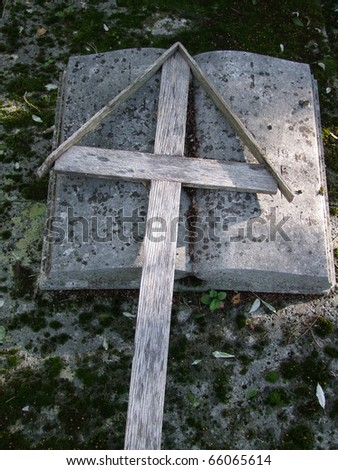 Cross and Holy Bible - stock photo