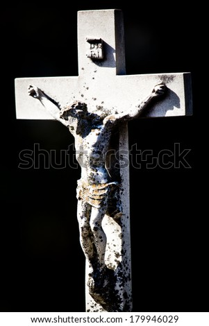 Cross at a cemetery in Melbourne Australia - stock photo