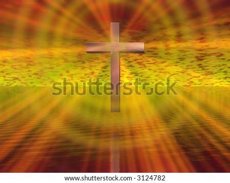 Cross Background - stock photo