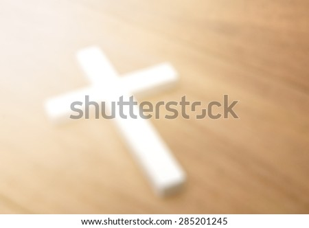 Cross blurred for background - stock photo