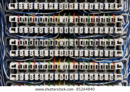 cross cable panel - stock photo