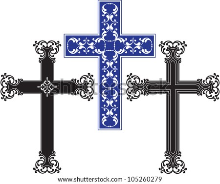 Cross christian - stock photo
