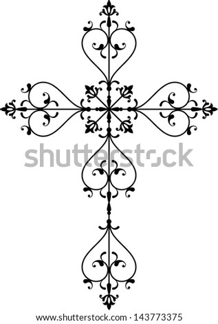 Cross christian - stock photo