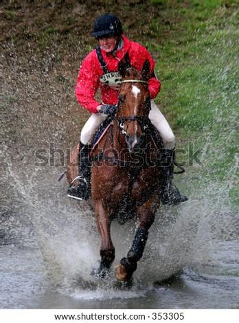 Cross Country Rider - stock photo