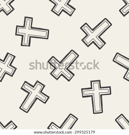 cross doodle seamless pattern background