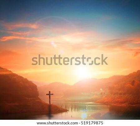 cross, easter, hope, hill, sacrifice, christian, resurrection, symbol, god, spiritual, jesus, clouds, believe, faith, spirituality, religious, salvation, cloudy, gospel, forgiveness, Colorful Nature.