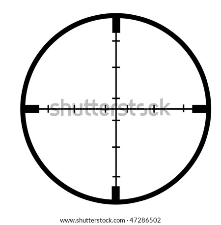 Cross hairs on White Background - Detailed - stock photo