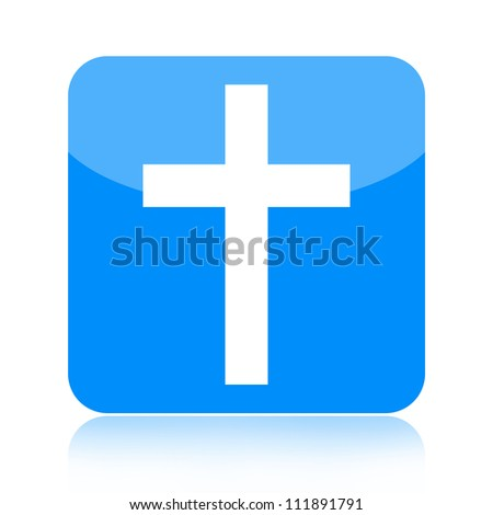Cross icon - stock photo
