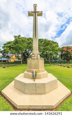 cross in Cemetery - stock photo