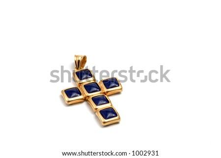 Cross in gold - stock photo