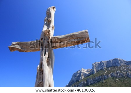 Cross in the blue sky